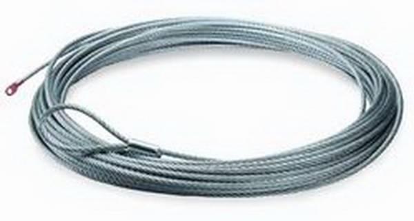 Warn - Warn 9500 LB Cap 5/16 Inch Dia x 125 Ft Galvanized Wire Rope 38312