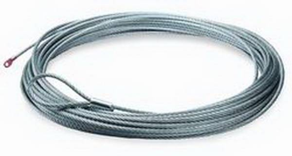 Warn - Warn 9500 LB Cap 5/16 Inch Dia x 100 Ft Galvanized Wire Rope 38314