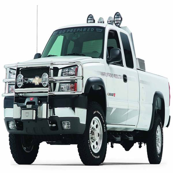 Warn - Warn With Insert Bars; Powder Coated; Black; Grille Guard Required 39190