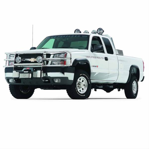 Warn - Warn With Insert Bars; Powder Coated; Black; Grille Guard Required 65340