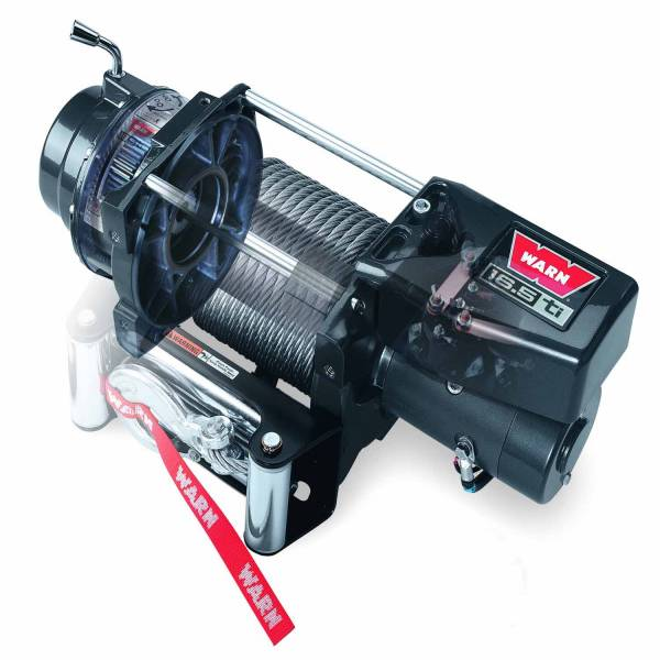 Warn - Warn 12 Volt 16500 LB Pull Line Cap 90 Ft Wire Rope Roller Fairlead Wired Remote 68801