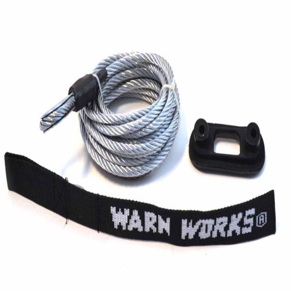 Warn - Warn For Warn PullzAll Winches; 7/32 Inch Diameter x 15 Foot Length; Wire Rope 76065