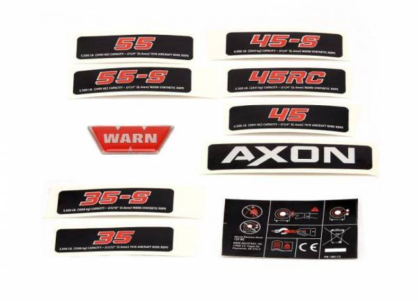 Warn - Warn Winch Label 100987