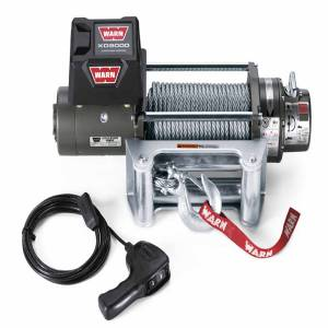Warn - Warn 12 Volt 9000 LB Cap 100 Ft Wire Rope Roller Fairlead Wired Remote 28500 - Image 2