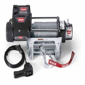 Warn - Warn Winch 12 Volt 9500 LB Cap 100 Ft Wire Rope Roller Fairlead Wired Remote 68500 - Image 1
