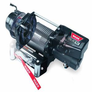 Warn - Warn 12 Volt 16500 LB Pull Line Cap 90 Ft Wire Rope Roller Fairlead Wired Remote 68801 - Image 1