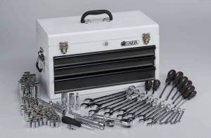 Boxo - 185-Piece Metric and SAE Tool Set with White 3-Drawer Hand Carry Box - Image 10