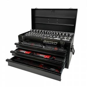 Boxo - 185-Piece Metric and SAE Tool Set with White 3-Drawer Hand Carry Box - Image 3