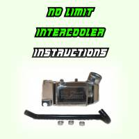No Limit Air to Water Intercooler Instructions